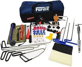 Furuix Car Dent Remover Paintless Dent Repair Kit/Paintless Dent Removal Rods Dent Puller Dent Lifter Paintless Dent Repair Light Slide Hammer Dent Glue Kit