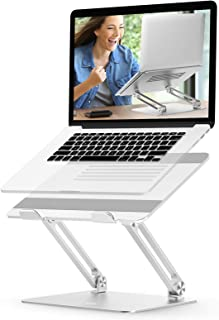 Laptop Stand Adjustable, EPN Laptop Riser with Heat-Vent to Elevate Laptop, Aluminum Notebook Holder Compatible for MacBoo...
