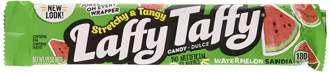 Laffy Taffy Stretchy and Tangy Watermelon Candy, 1.5 Ounce (Pack of 24)