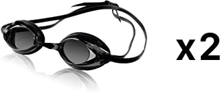 Speedo Vanquisher Optical Competition Swim Goggles Smoke Diopter -3.5 (2-Pack)