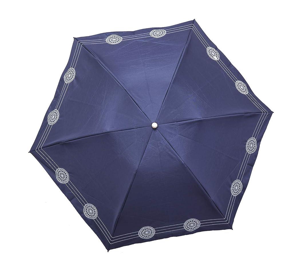 ほとんどの場合任命する縫い目テイジン ナノフロント? 折りたたみ日傘 遮熱 UVカット 遮光 国内トップクラスの効果 ネイビー