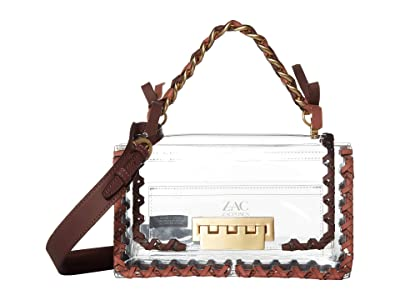 ZAC Zac Posen Earthette Chain Top-Handle Shoulder Solid Lacing (Clear) Handbags
