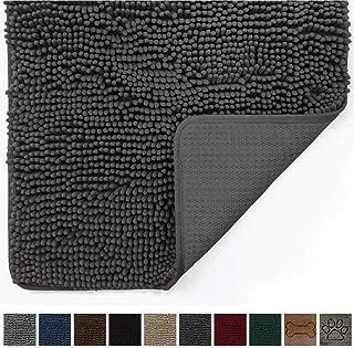 Gorilla Grip Original Indoor Durable Chenille Doormat, 60x36, Absorbent Machine Washable Inside Mats, Low-Profile Rug Doormats for Entry, Mud Room Mat, Back Door, High Traffic Areas, Charcoal
