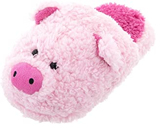 Women's Fuzzy Pink Pig Slippers