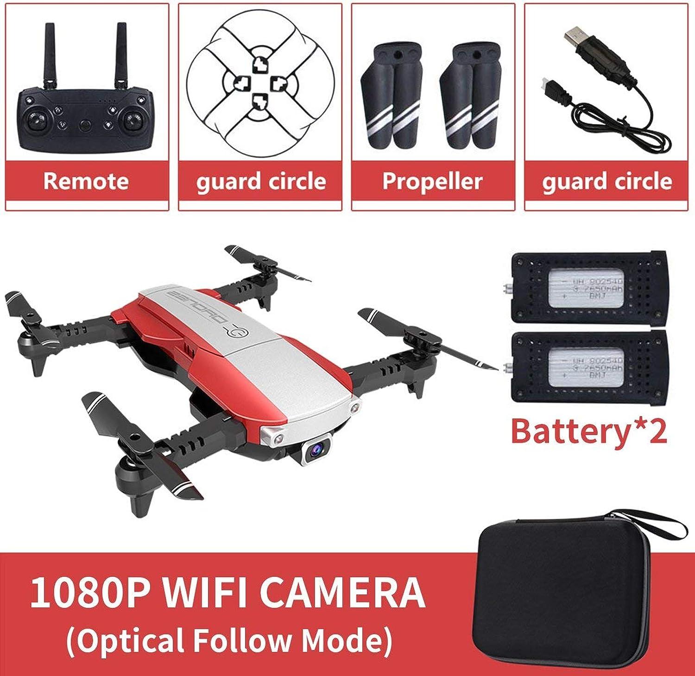 Noradtjcca Faltbare 2,4 GHz WiFi FPV Drohne 1080 P Kamera RC Drohne Echtzeitübertragung Flugzeug Spielzeug mit 2 Batterie