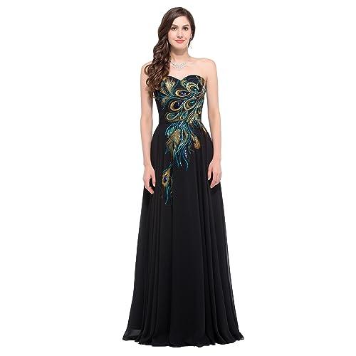 6aff32af3f96 GRACE KARIN Donna Elegante Vestiti da Matrimonio Abito in Chiffon Lunghi  Vestito Formale Sera da Cerimonia