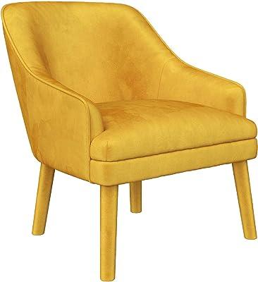 Mr. Kate Effie Upholstered Accent Chair, Mustard Velvet