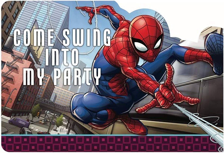 Spiderman Webbed Wonder  Postcard Invites, Party Favor, 48 Ct