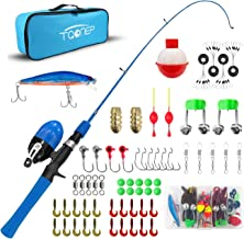 TQONEP Kids Fishing Pole,with Spincast Fishing Reel Tackle Box for Boys, Girls, Youth, Portable Telescopic Fishing Rod and...