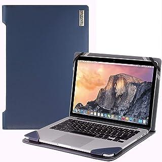 """Broonel - Profile Series - Blauw lederen Hoes - compatibel met de Lenovo ThinkPad T14s 14"""" Laptop"""