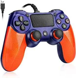 Global-store PS4 Controller Wired, Playstation 4 Controller with Dual Vibration Shock Joystick Gamepad for PS4/PS4 Slim/PS...