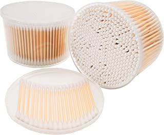 Wooden Cotton Swabs, Biodegradable Wood Cotton Buds 1000pcs