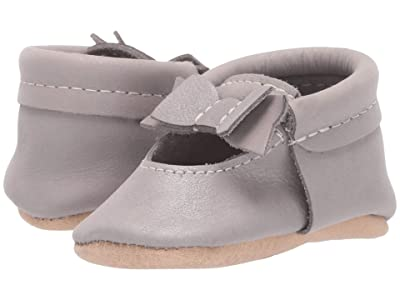 Freshly Picked Dreamy Ballet Flat Bow Mocc (Infant/Toddler) (Silver/Brown) Girl
