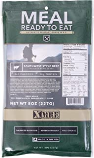 XMRE Main Entree Ready to Eat Authentic Military Grade M.R.E. Single Meal Pack 8 oz (Beef Ravioli)