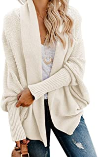 Womens Kimono Batwing Cable Knitted Slouchy Oversized...