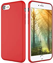 Weduda iPhone 8 Silicone Case, iPhone 7 Silicone Case, Liquid Silicone Gel Rubber Full Body Protection Mobile Phone Case with Drop Shockproof PC Cushion for Apple iPhone 8(2017)/iPhone 7(2016) - Red