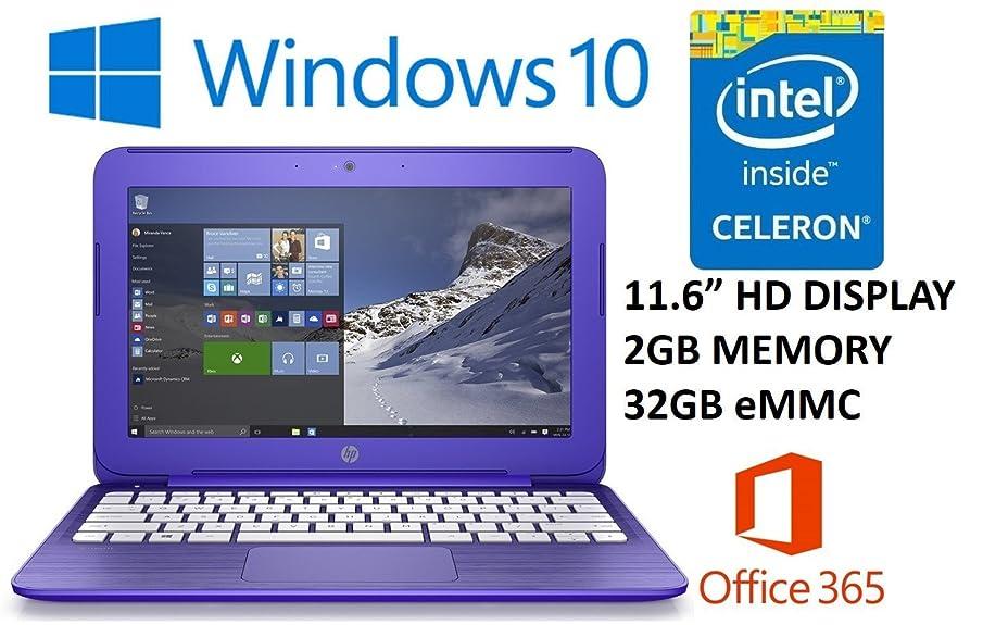 HP Stream 11.6-inch Laptop PC (2016 Model) with 1 Year Office 365 Personal, Intel Celeron N3050 1.6GHz, 2GB DDR3L RAM, 32GB SSD, Bluetooth, Wifi, Windows 10 (Purple)