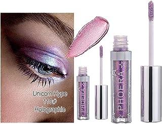 Eyeshadow,LtrottedJ 12 Color PHOERA Magnificent Metals Glitter and Glow Liquid Eyeshadow (J)