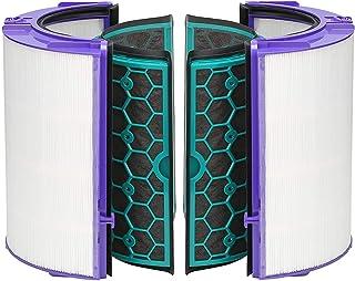 FIND A SPARE Filtro HEPA de Repuesto para Ventilador purificador de Vidrio y Filtro de carbón Activado Interior para Dyson Hot and Cold DP04 HP04 TP04 Heatear & Cooler Pure Cool