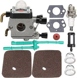 Mckin C1Q-S97 FS55R Carburetor with Air Filter Fuel Line Gasket Spark Plug Kit for Stihl FS38 FS45 FS46 FS55 KM55 HL45 FS45L FS45C FS46C FS55C FS55R FS55RC String Trimmer Weed Eater
