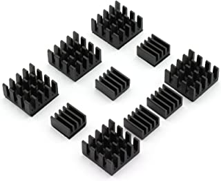 DZS Elec 10pcs Chip Radiator Aluminium Heat Sink Cooling Module for Raspberry pi 2 model B/Raspberry pi B+/Raspberry pi B
