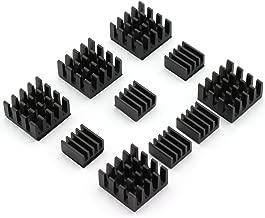 DZS Elec 10pcs Chip Radiator Aluminium Heat Sink Cooling Module for Raspberry pi 2 model B/Raspberry pi B+/Raspberry pi B