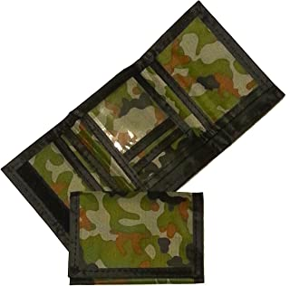 Army Camouflage Wallet Nylon Trifold Kids Wallets for Boys Camo Hunting - 1 Piece
