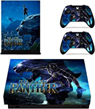 Adventure Games - XBOX ONE X - Black Panther - Vinyl Console Skin Decal Sticker + 2 Controller Skins Set
