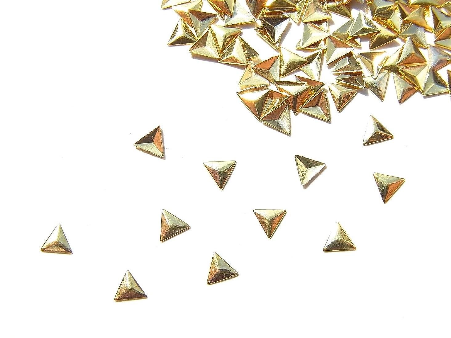 肥料アダルト海賊【jewel】mp14 ゴールド メタルパーツ 三角型 トライアングル 10個入り ネイルアートパーツ レジンパーツ