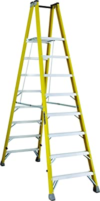Louisville FMP2008 Twin Front Platform Ladder with 8-Feet Standing Height, 24 X 14.4-Inch