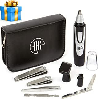 2019 Edition Urban Gent Esq. Ear and Nose Hair Trimmer Beard 8 Piece Mens Grooming Kit