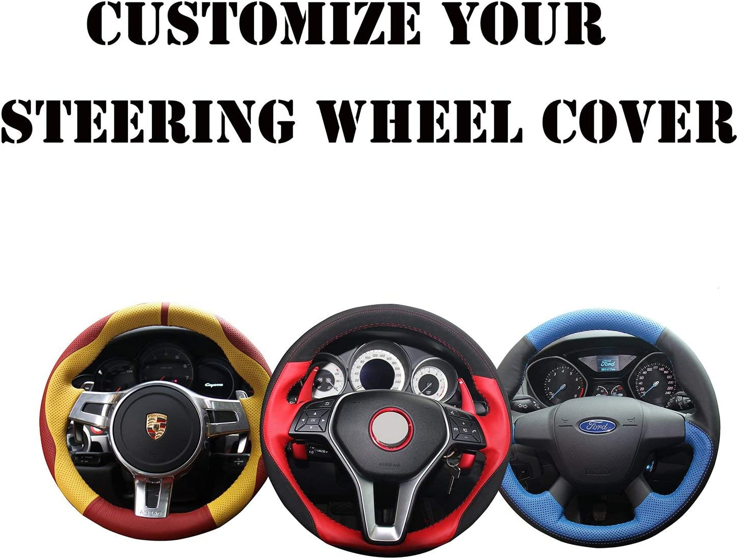 Loncky Genuine Leather Steering Wheel Cover for Tacoma Toyota 20 Boston Super beauty product restock quality top! Mall
