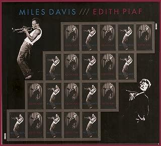 Miles Davis/edith Piaf Forever Self-adhesive Stamp Sheet of 20