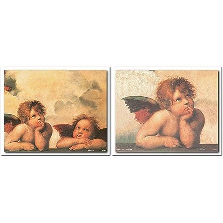 ARTCANVAS Sistine Madonna Two Angels Detail Rectangular Canvas Art Print Raphael