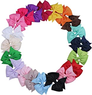 Flyme Baby Boutique Girls Ribbon Bowknot Hair Clips and Rabbit Ear Headbands