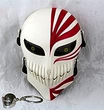 Gmasking Bleach Ichigo Kurosaki Airsoft Wire Mesh Paintball Mask Replica+Gmask Keychain