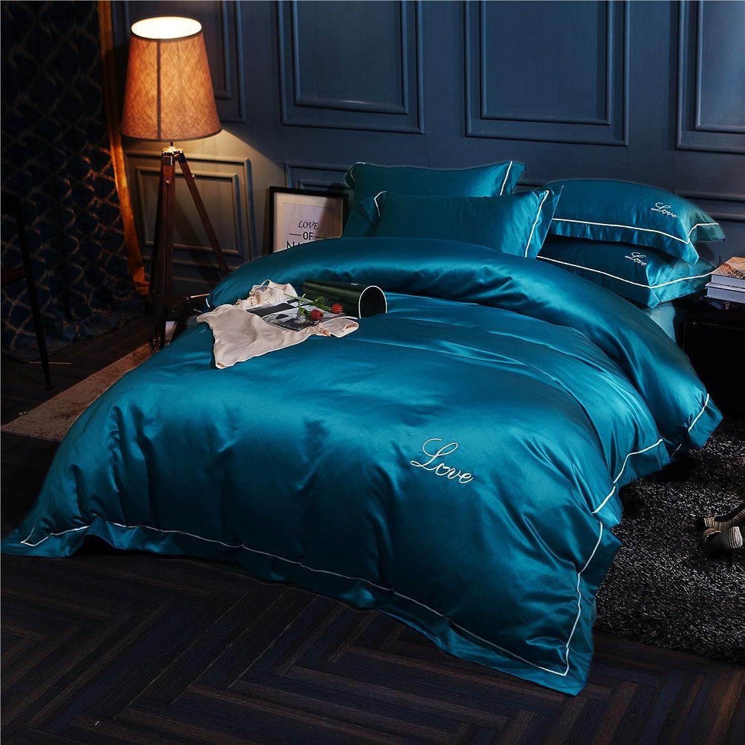 アルミニウム首謀者しおれた寝具カバーセット 和式 無地 天然サテン そして コツトン 布団カバー 4点セット ベッド用 枕カバー 掛けカバー ボックスシーツ 四節通用 おしゃれ 四節通用 抗菌