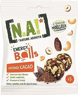 N.A! - Energy Balls Intense Cacao - Mélange de Dattes, Noix de Cajou et Éclats de Noisettes - Sans Colorants, Sans Conserv...