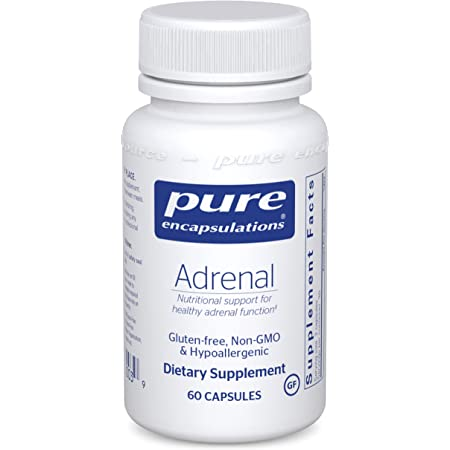 Pure Encapsulations Adrenal | Supplement to Support Healthy Cortisol Levels, Fatigue, Stress Moderation, and Adrenal Gland Function* | 60 Capsules