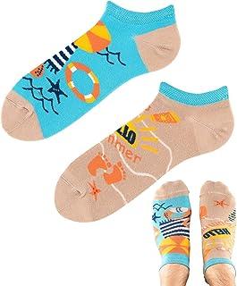 TODO COLOURS - Calcetines divertidos para zapatillas - Summer Holidays Low - Calcetines tobilleros coloridos con diseño pa...