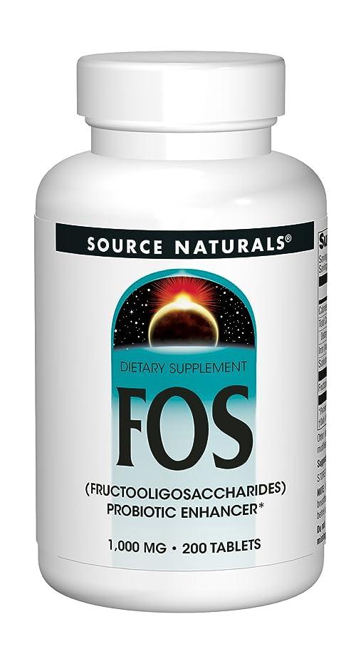 喪ミニチュア曲海外直送品 Source Naturals Nutraflora Fos, 200 Tabs 1000 MG