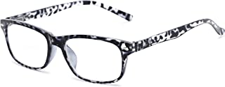 Readers.com Reading Glasses: The Williamsburg Bifocal Reader, Plastic Retro Square Style for Men and Women