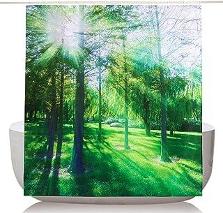 Colore: Verde Tenda da Doccia in Tessuto di Poliestere Impermeabile con Ganci 200 x 200 cm MDD/_Tech