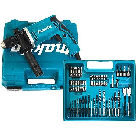 Makita HP1631KX3 Schlagbohrmaschine im Koffer, 710 W + 74tlg. Zubehör