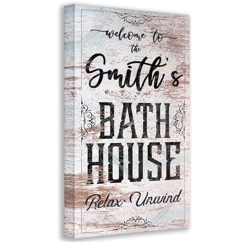 Personalized - Bath Excellent House Large Stretched Ranking TOP18 Art Wall on Canvas