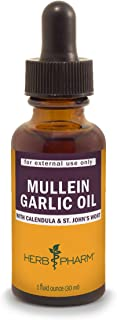 Herb Pharm Mullein Garlic Herbal Oil – 1 Ounce