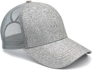 46c4c9a8007 Womens Ponytail Messy High Buns Trucker Ponycaps Plain Baseball Cap Dad Hat  Adjustable Snapback