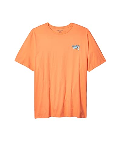 Nautica Big & Tall Big Tall Short Sleeve Graphic Tee (Orange) Men