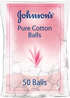 JOHNSON'S Baby Pure Cotton Balls, 50 balls