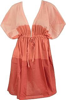 564ad1dae8d64 LA LEELA Bikini Swimwear Swimsuit Beach Cover ups Women Summer Dress Tie Dye